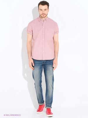 Сорочка Wrangler. Цвет: розовый, бледно-розовый, кремовый