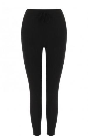 Укороченные кашемировые брюки-скинни James Perse. Цвет: черный