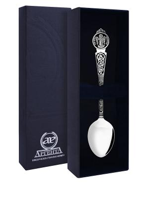 Ложка Ангел-Хранитель с чернением пр.925+футляр АргентА. Цвет: серебристый
