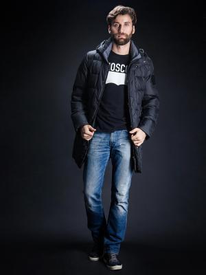 Зимняя куртка Clasna. Цвет: черный
