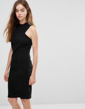 Shades of Grey Трикотажное платье в стиле борцовки. Цвет: черный