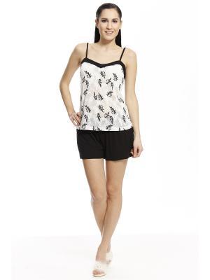 Пижама с шортами RELAX MODE. Цвет: черный
