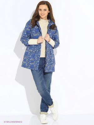 Куртка GEOX. Цвет: голубой, белый