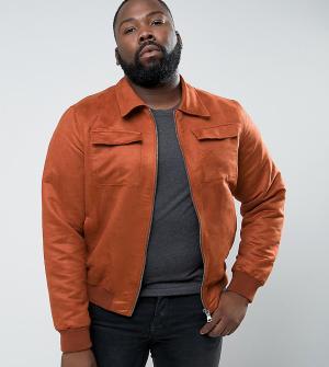 Barney's Originals Куртка из искусственной замши Barneys PLUS. Цвет: рыжий