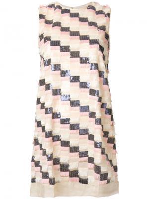 Платье Kamari Jovonna. Цвет: телесный