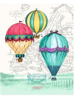 Картина - репродукция Воздушные шары Magic Home. Цвет: голубой,розовый