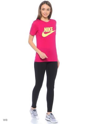 Футболка W NSW ESSNTL TEE HBR Nike. Цвет: фуксия