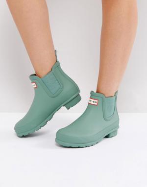 Hunter Ботинки челси Original. Цвет: зеленый