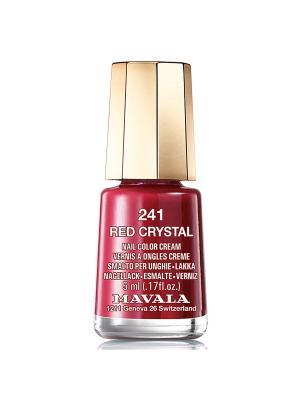 Лак для ногтей тон 241 Red Crystal Mavala. Цвет: темно-красный