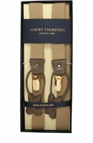Подтяжки Albert Thurston. Цвет: бежевый