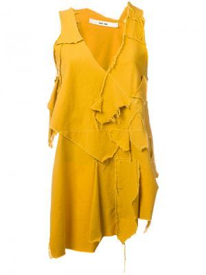 Топ Tais Damir Doma. Цвет: жёлтый и оранжевый