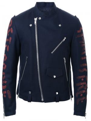 Байкерская куртка Almostblack. Цвет: чёрный