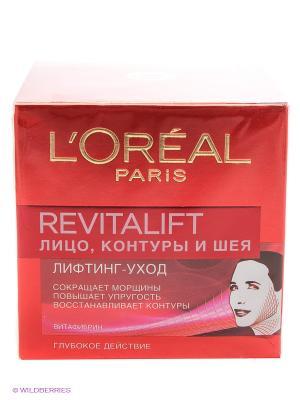 Антивозрастной крем Ревиталифт против морщин для лица, контуров и шеи, 50 мл L'Oreal Paris. Цвет: красный