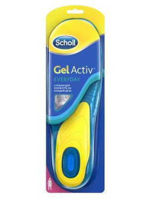 Scholl GelActiv Everyday Cтельки для комфорта на каждый день женщин. Цвет: синий