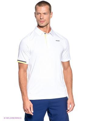 Футболка-поло Pace Poloshirt Button HEAD. Цвет: белый, салатовый