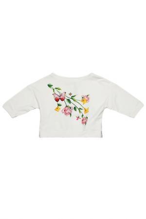 Толстовка Monnalisa. Цвет: белый