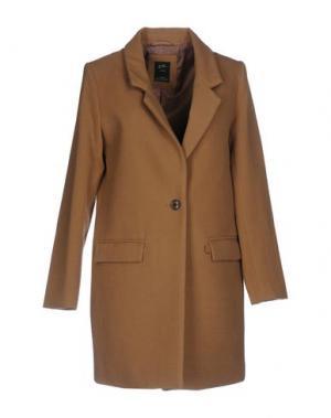 Пальто YES ZEE by ESSENZA. Цвет: коричневый