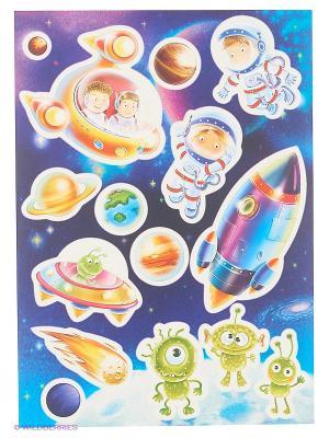 Космические приключения DECORETTO. Цвет: синий, зеленый, голубой, бежевый