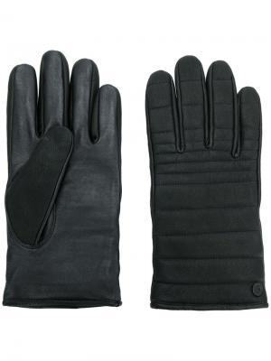 Перчатки с контрастной строчкой Canada Goose. Цвет: чёрный