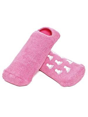 Увлажняющие носки с гелевой пропиткой Spa belle. Цвет: розовый
