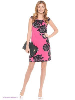 Платье London Times. Цвет: розовый, черный