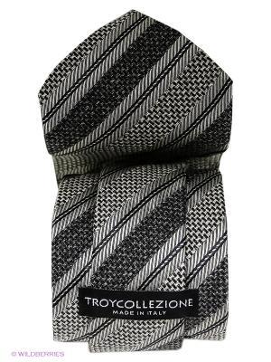 Галстук Troy collezione. Цвет: серый