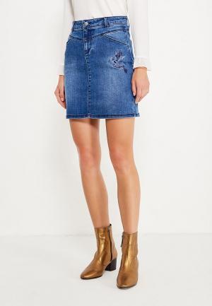 Юбка джинсовая Naf. Цвет: синий