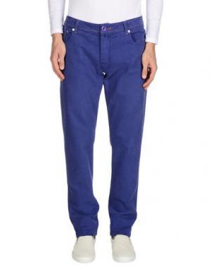 Джинсовые брюки JACOB COHЁN. Цвет: розовато-лиловый