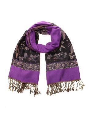 Палантин Migura. Цвет: фиолетовый, черный