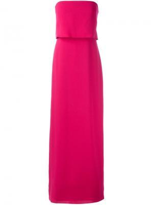 Платье без бретелек Halston Heritage. Цвет: розовый и фиолетовый
