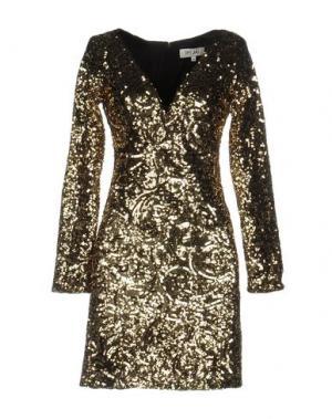 Короткое платье DRY LAKE.. Цвет: золотистый