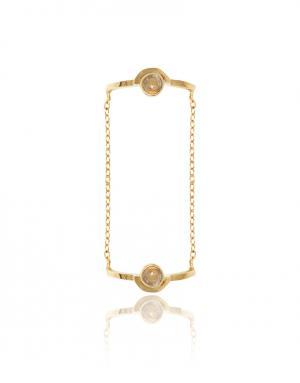 Кольцо из латуни с кварцем Pamela Love. Цвет: золотой