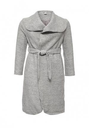 Пальто LOST INK CURVE. Цвет: серый