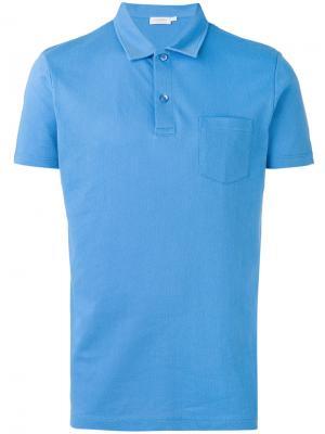 Рубашка-поло Riviera Sunspel. Цвет: синий