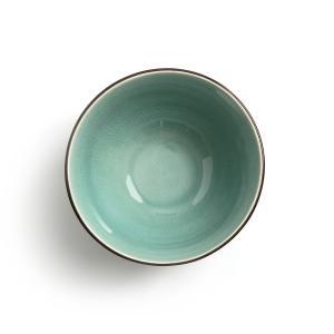 Комплект из 2 чашек керамики, покрытой глазурью, Sonequa AM.PM.. Цвет: изумрудный