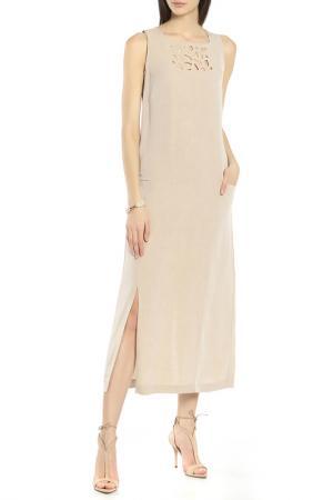 Платье Oblique. Цвет: бежевый