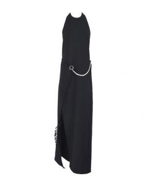 Длинное платье PACO RABANNE. Цвет: черный