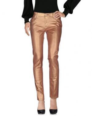 Повседневные брюки LEROCK. Цвет: ржаво-коричневый