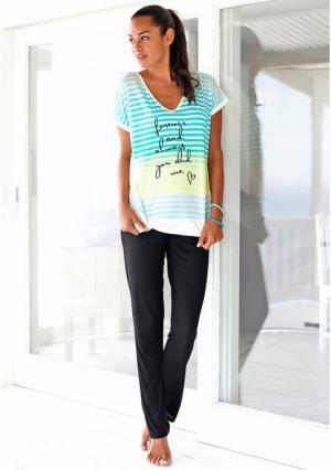 Пижама H.I.S.. Цвет: в полоску/черный