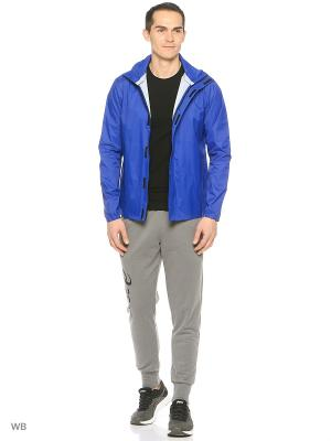 Куртка Rain Jacket ASICS. Цвет: голубой