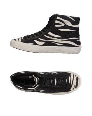 Высокие кеды и кроссовки D.A.T.E.. Цвет: черный