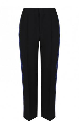 Укороченные брюки со стрелками и кружевной отделкой Emilio Pucci. Цвет: черный