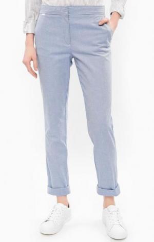 Синие брюки чиносы из хлопка Lacoste. Цвет: синий