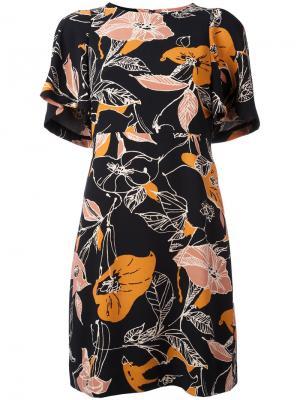 Платье с цветочным принтом Nash Essentiel Antwerp. Цвет: чёрный