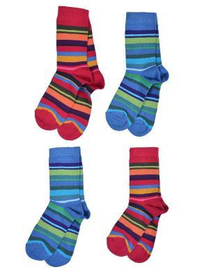 Носки Детские,комплект 4шт Malerba. Цвет: синий, бордовый