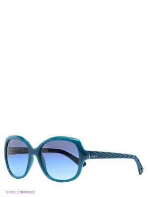 Очки солнцезащитные Vogue. Цвет: бирюзовый