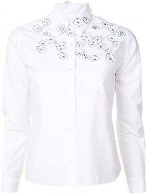 Рубашка с цветочной вышивкой Jimi Roos. Цвет: белый