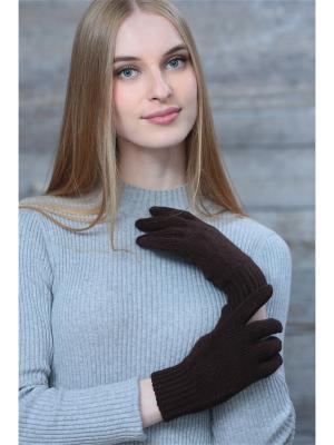 Перчатки Krife. Цвет: темно-коричневый