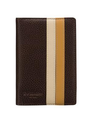 Обложка для паспорта Dr. Koffer. Цвет: коричневый
