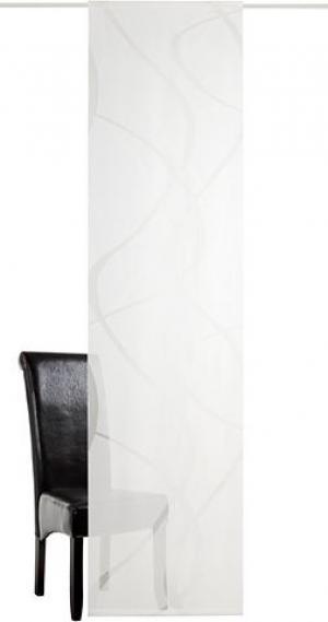 Японская штора «Rumbek» от deko trends, 1 штука (без креплений) TRENDS. Цвет: белый с цветом шампанского